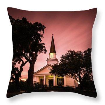 Belin Memorial Umc Sunset Throw Pillow