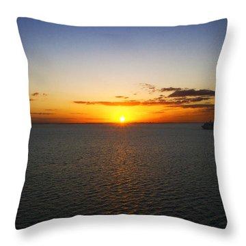 Belize Sunset Throw Pillow