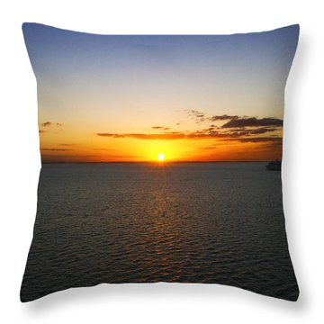 Belize Sunset Throw Pillow