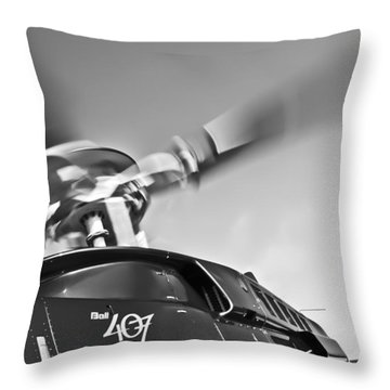 Bell 407 Throw Pillow by Patrick M Lynch