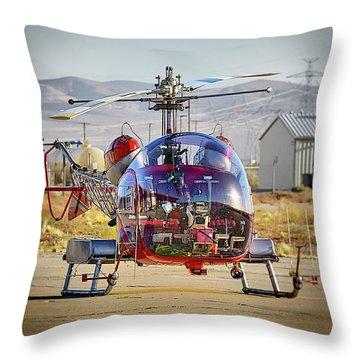 Bell 47 Throw Pillow