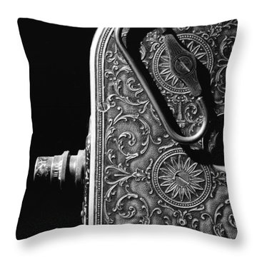 Bell And Howell Camera Throw Pillow by Jim Mathis