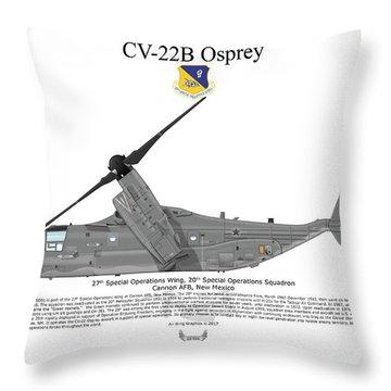 Bell Boeing Cv-22b Osprey 20sos Throw Pillow