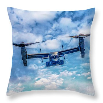 Bell Boeing V-22 Osprey  Throw Pillow