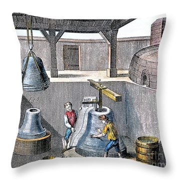 Bell Casting, 1763 Throw Pillow by Granger