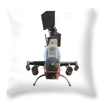 Bell Cobra Ah-1s Attack Helicopter. Throw Pillow