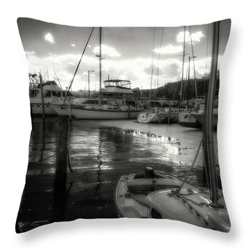 Bell Haven Docks Throw Pillow by Paul Seymour