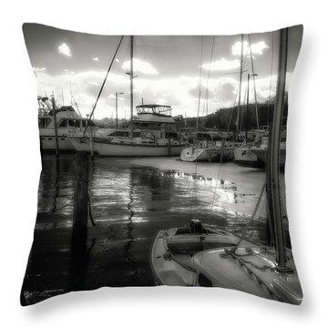 Bell Haven Docks Throw Pillow