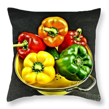 Bell Peppers 2 Throw Pillow