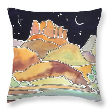 Bell Rock Throw Pillow by Barbara Tibbets