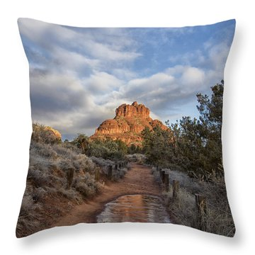 Bell Rock Beckons Throw Pillow by Tom Kelly