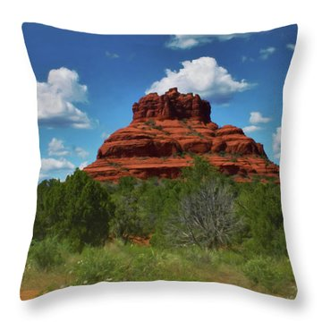 Throw Pillow featuring the photograph Bell Rock In Sedona by Ola Allen
