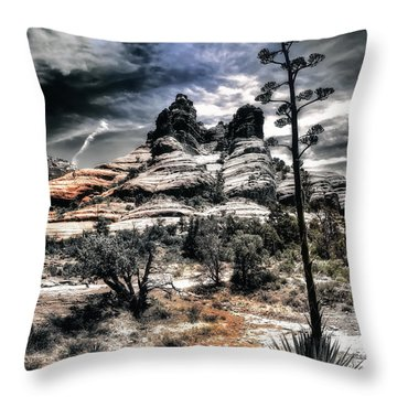 Throw Pillow featuring the photograph Bell Rock by Jim Hill