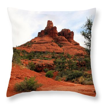 Bell Rock Throw Pillow by Kristin Elmquist