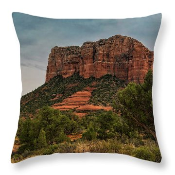 Throw Pillow featuring the photograph Courthouse Butte - Sedona  by Saija Lehtonen