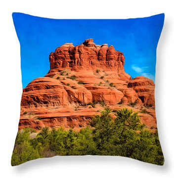 Bell Rock Tower Throw Pillow