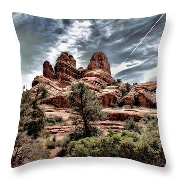 Bell Rock Vortex Throw Pillow