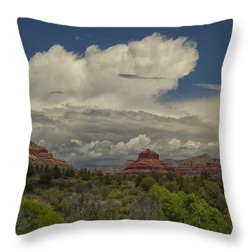 Bell Rock's Beauty Throw Pillow by Tom Kelly
