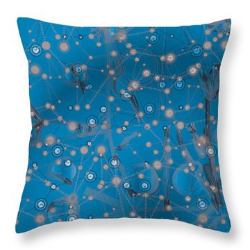 Bell-shaped Flowers Throw Pillow