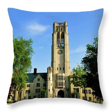 Bell Tower At The University Of Toledo Throw Pillow