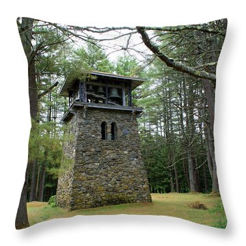 Bell Tower Throw Pillow by Lois Lepisto
