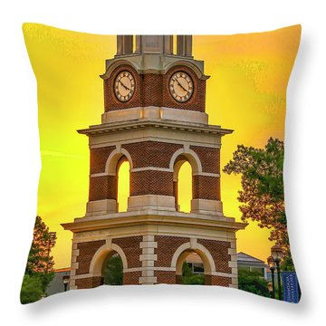 Throw Pillow featuring the photograph Bell Tower At Christopher Newport University C N U by Ola Allen