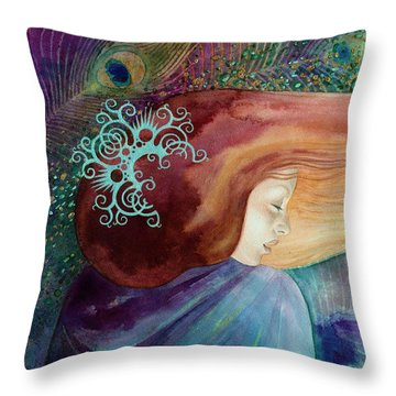 Bella Aurora Throw Pillow
