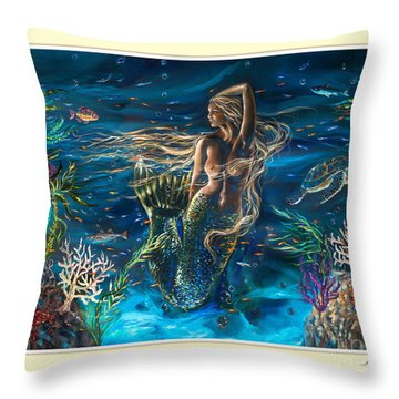 Bella Donna Tryptic Throw Pillow by Linda Olsen