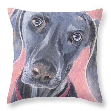 Throw Pillow featuring the painting Bella by Jamie Frier