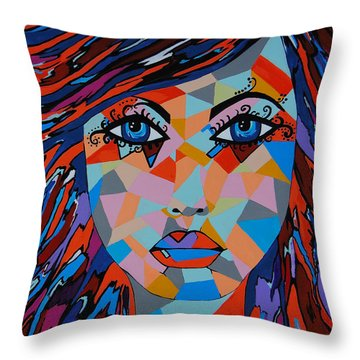 Throw Pillow featuring the painting Bella by Kathleen Sartoris