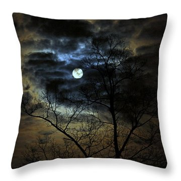 Bella Luna Throw Pillow by Suzanne Stout