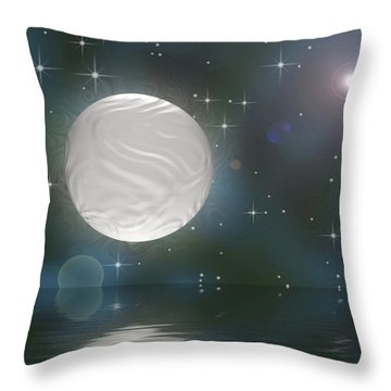 Throw Pillow featuring the digital art Bella Luna by Wendy J St Christopher