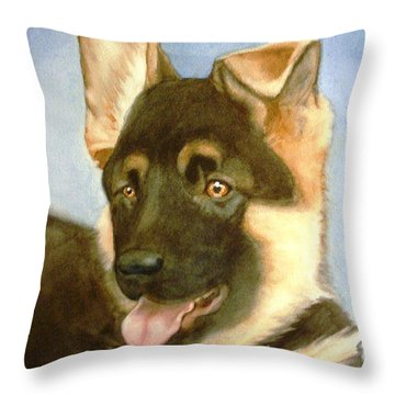 Bella Throw Pillow by Marilyn Jacobson