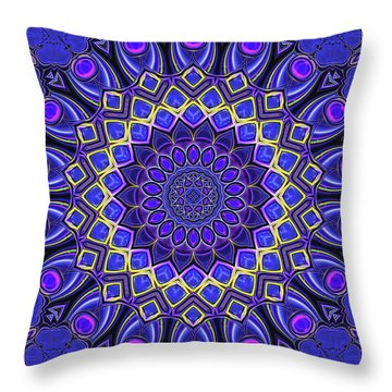 Throw Pillow featuring the digital art Bella - Purple by Wendy J St Christopher