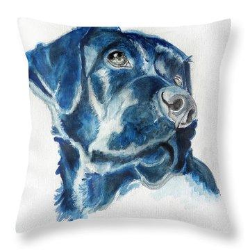 Bella The Labrador Retriever Throw Pillow