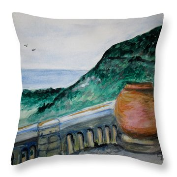 Bella Vista, Cumae Italy Throw Pillow