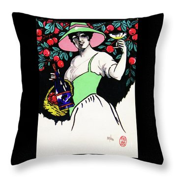 Throw Pillow featuring the painting Belladonna And Apples by Roberto Prusso