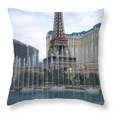 Bellagio Fountain 1 Throw Pillow by Anita Burgermeister
