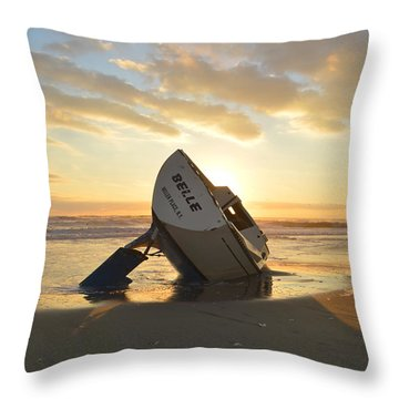 Throw Pillow featuring the photograph Belle At Sunrise by Barbara Ann Bell