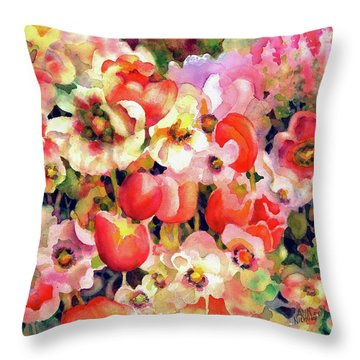 Belle Fleurs II Throw Pillow