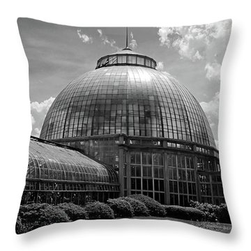 Belle Isle Conservatory 3 Bw Throw Pillow by Mary Bedy