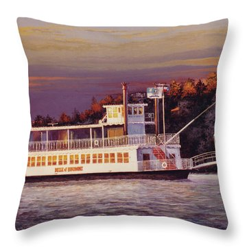 Belle Of Beaumont Throw Pillow