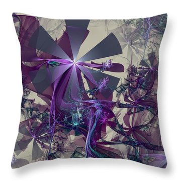 Throw Pillow featuring the digital art Belle Of The Ball by Kim Redd