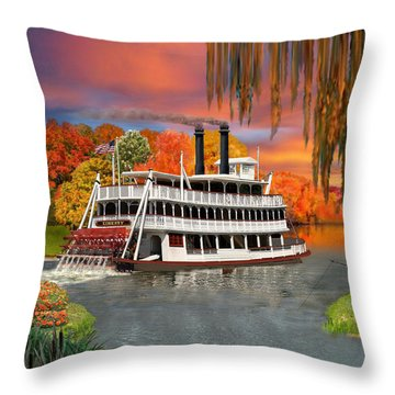 Belle Of The Bayou Throw Pillow