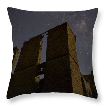 Belle Plain College - Texas Throw Pillow