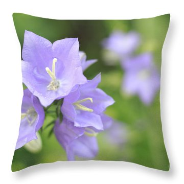 Bellflower Throw Pillow by Charline Xia