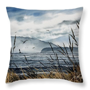 Bellingham Bay Throw Pillow by James Williamson