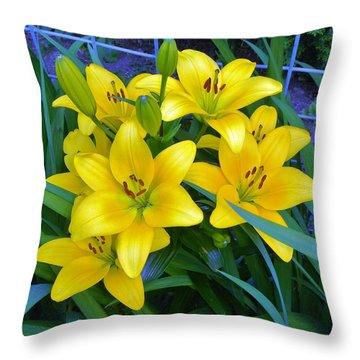 Bellingham Blooms Throw Pillow