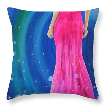 Throw Pillow featuring the painting Bellissimo by Mary Scott