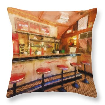 Bellows Falls Diner Throw Pillow